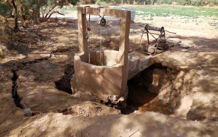 puits après tempête